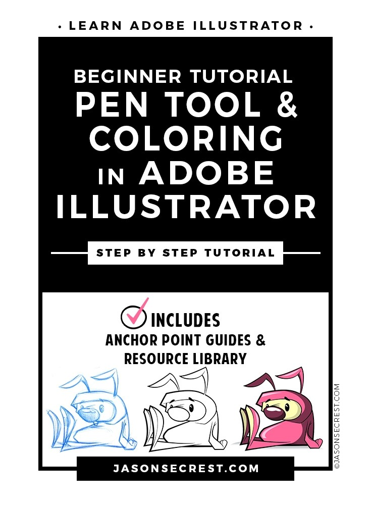 Beginner Adobe Illustrator Cartoon Inking Tutorial