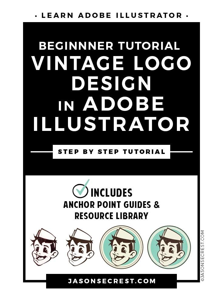 Beginner Illustrator Tutorial Vintage Logo Design