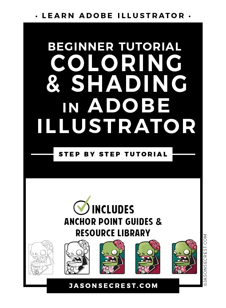 Beginner Illustrator Tutorial Coloring Shading