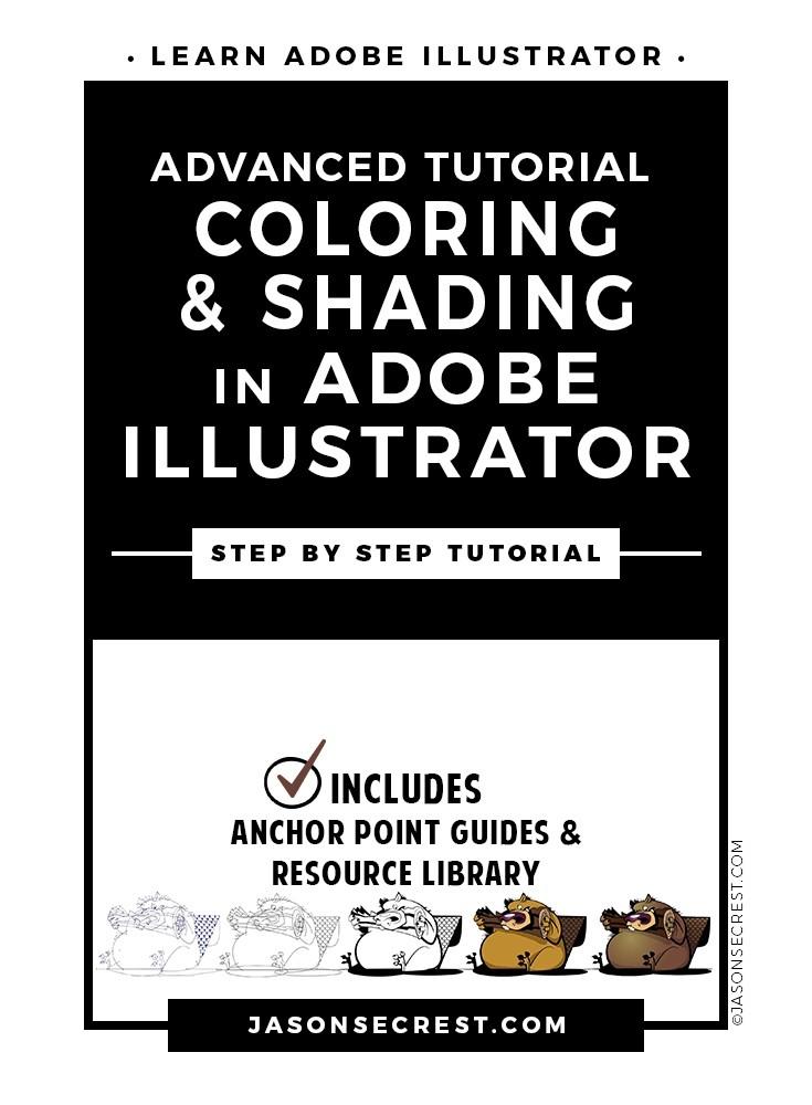 Advanced Illustrator Coloring Shading Tutorial