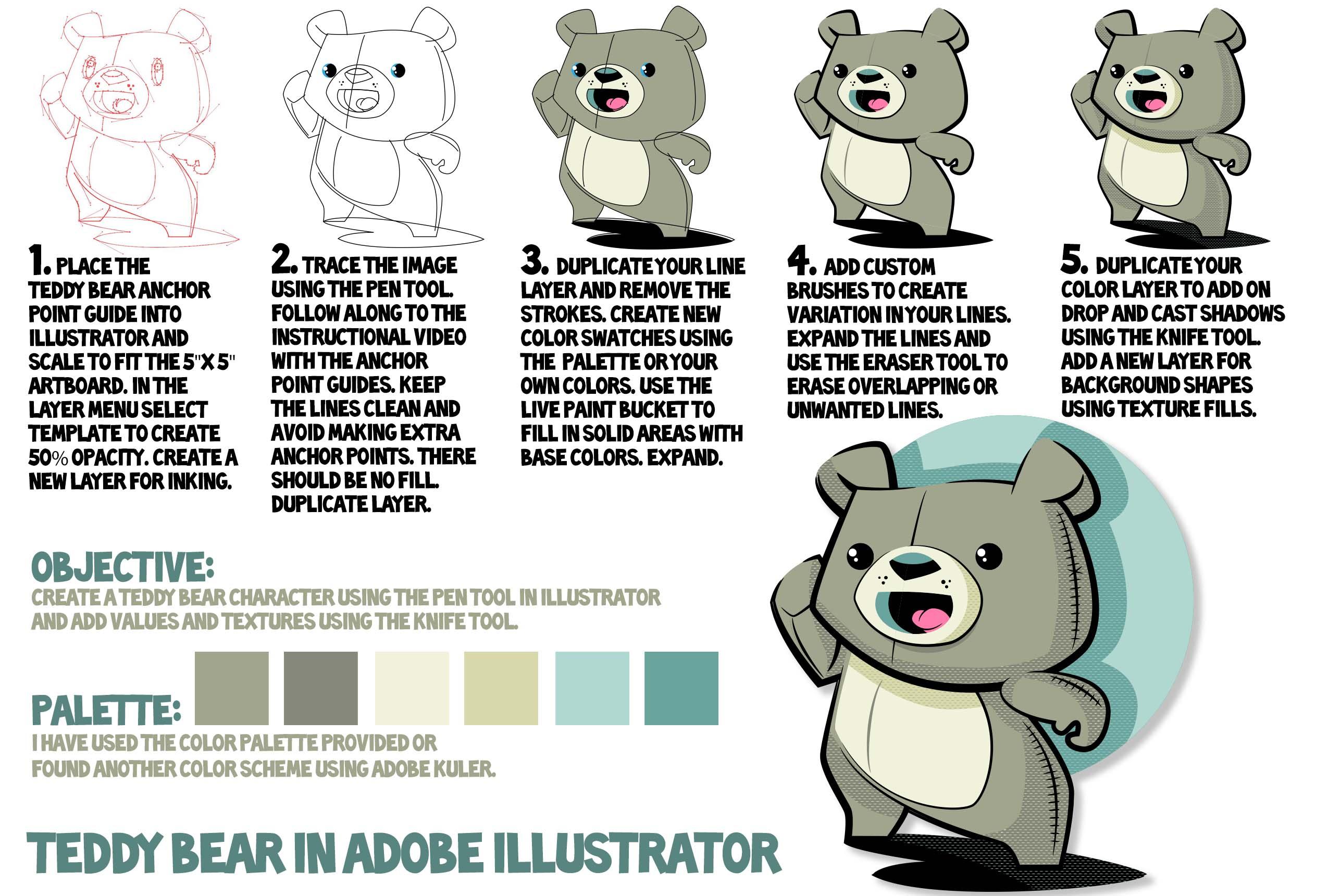 Cute Teddy Bear Sticker on Redbubble