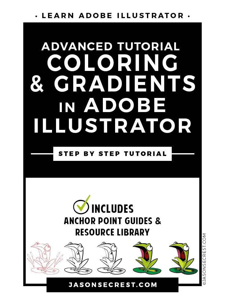 Advanced Illustrator Coloring using Gradients Tutorial