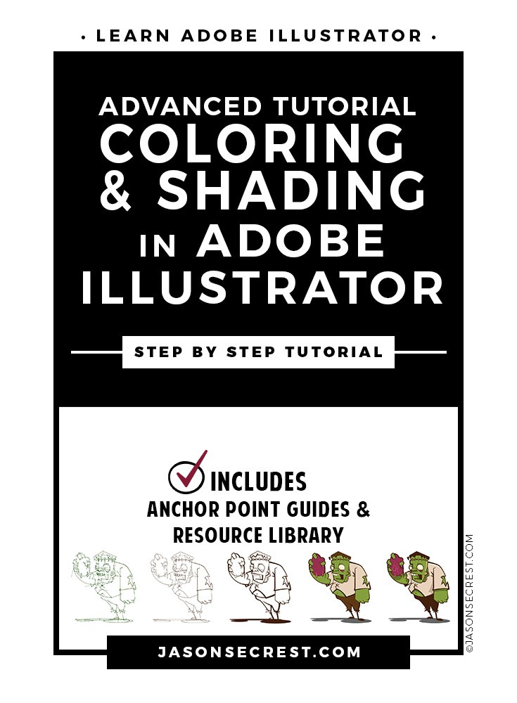 Advanced Adobe Illustrator Coloring Tutorial