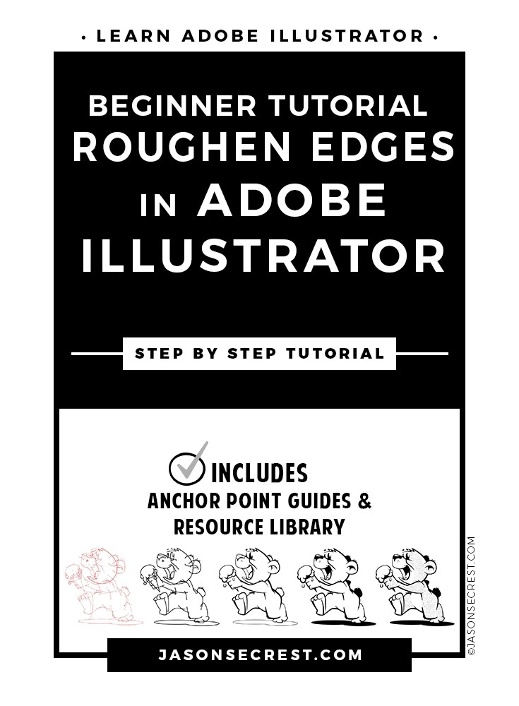 Beginner Illustrator Tutorial Roughen Edges
