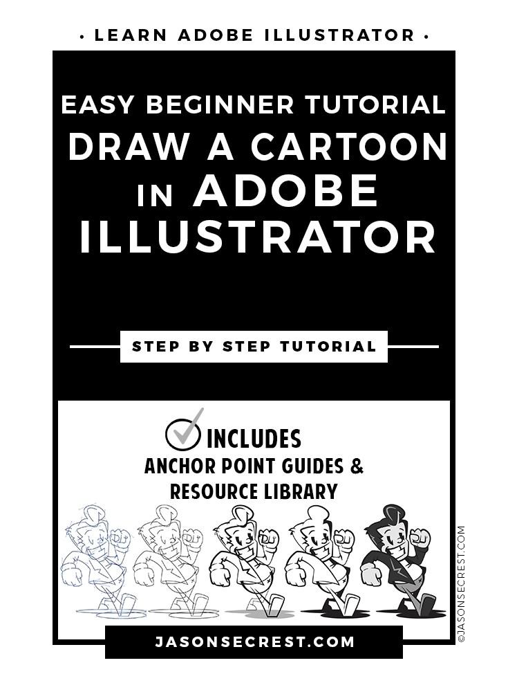 Easy Beginner Illustrator Cartoon Tutorial