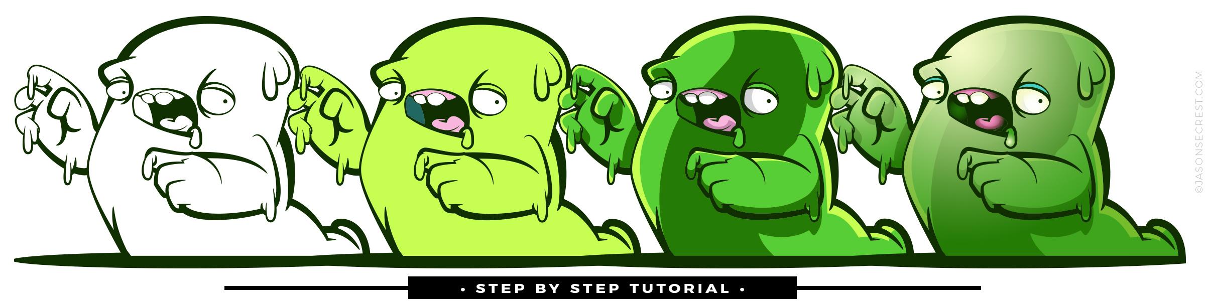 Slime Monster Sticker on Redbubble