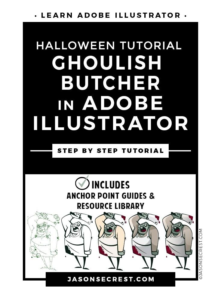 Advanced Adobe Illustrator Halloween Ghoul Tutorial