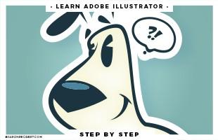 adobe illustrator pen tool puppy