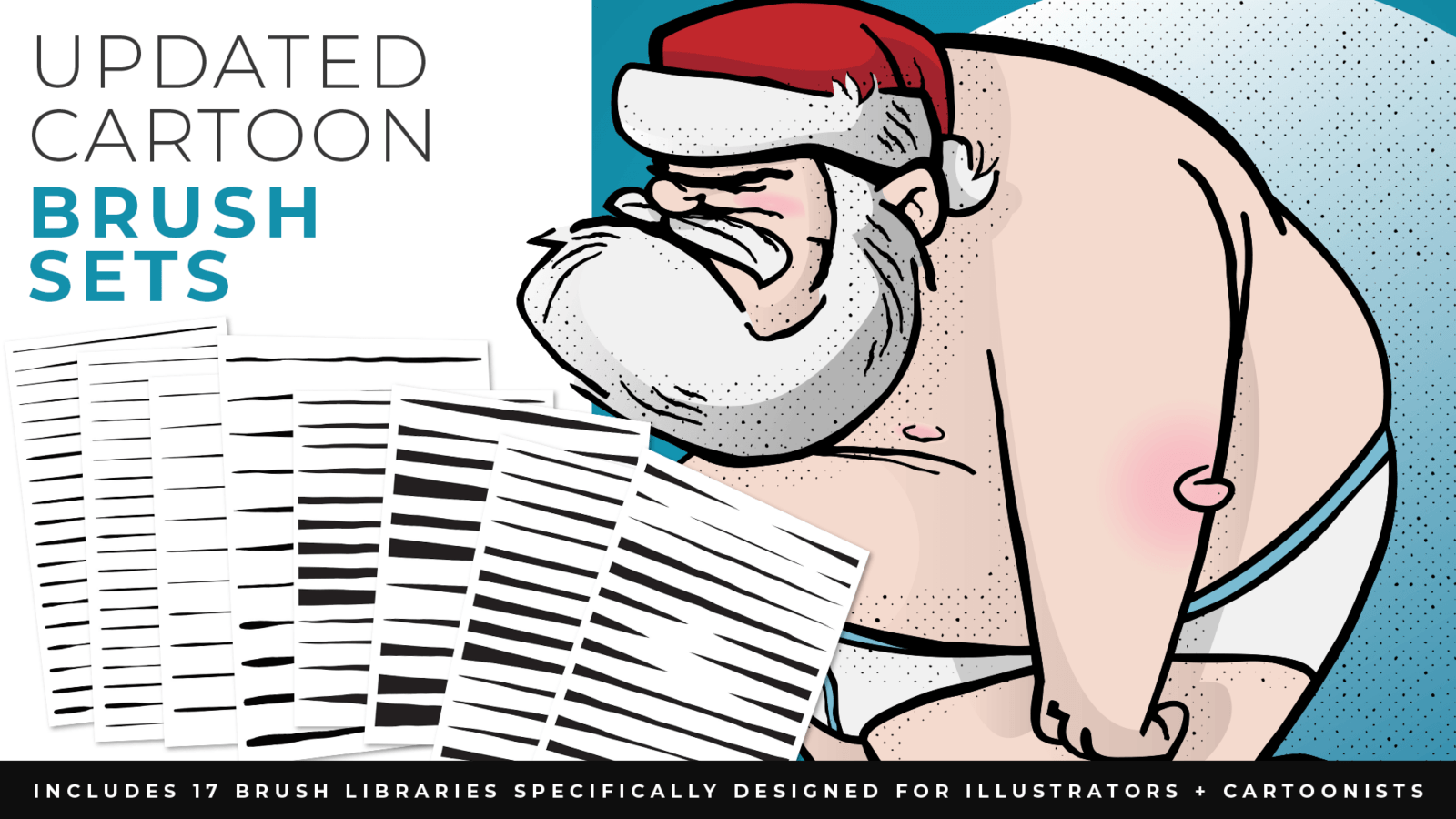 adobe illustrator cartoon brushes santa