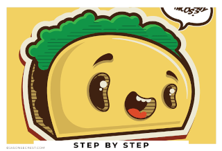 adobe illustrator tutorial using shapes taco