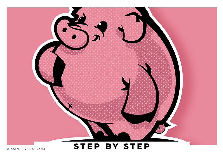 adobe illustrator pen tool pig